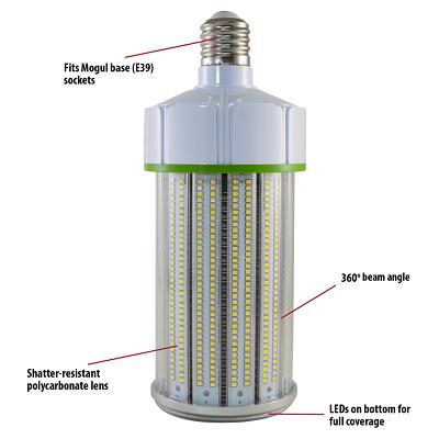 Stonepoint LED Lighting CB-16-39 Non-Dimmable E39 Base LED Corn Bulb 15500 Lumen