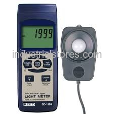 Reed SD-1128 Light Meter/Type J/K Thermometer Data Logger 100000 Lux