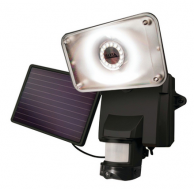 Maxsa 44642-CAM-BK Solar-Powered Security Video Camera & Floodlight