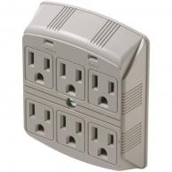 Steren 905-307 6-Outlet 270 Joules Plug-In Surge Protector